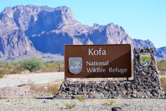 Kofa NWR sign