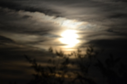 Moon with clouds 2