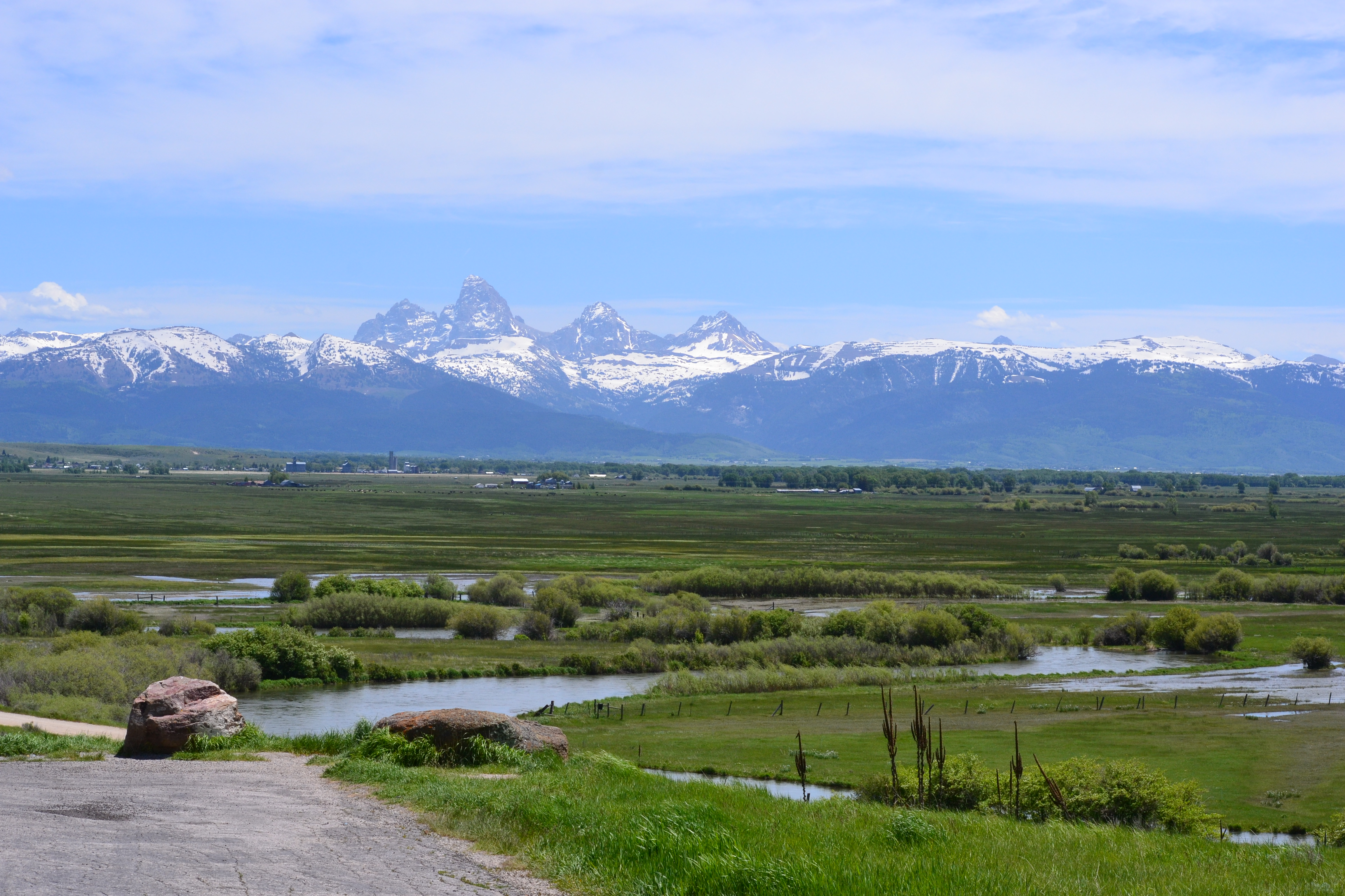 The Grand Tetons from the Idaho side